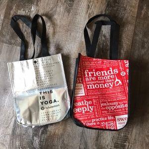 Two small lululemon reusable bags!